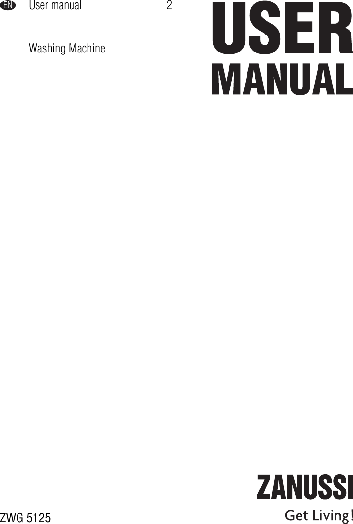 Zanussi Zwg 5125 Users Manual