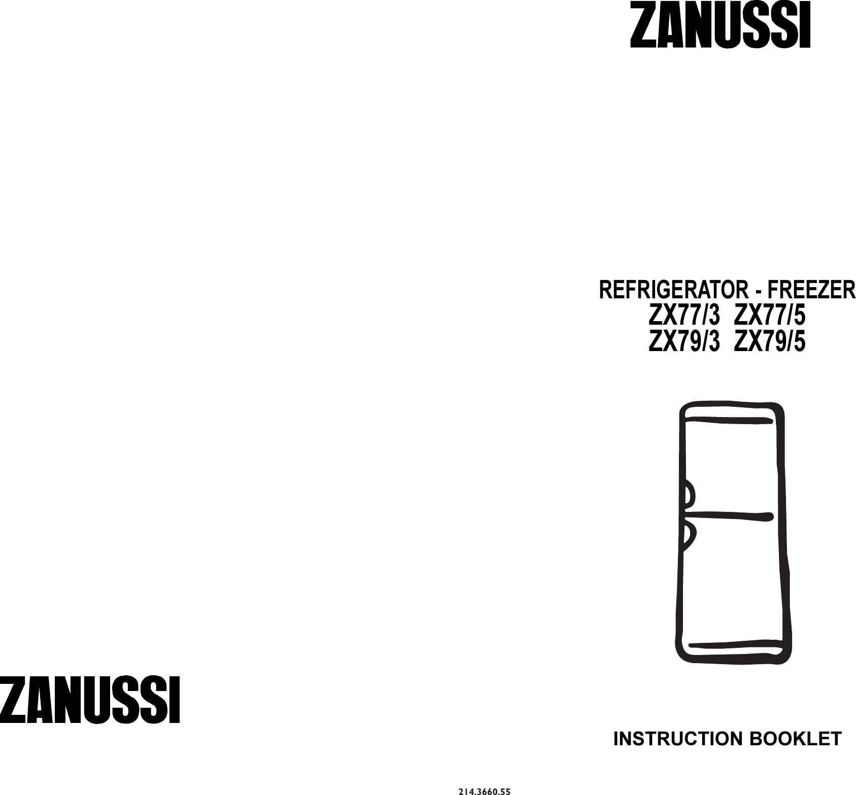 Zanussi Zx77 3 Owners Manual 214366055