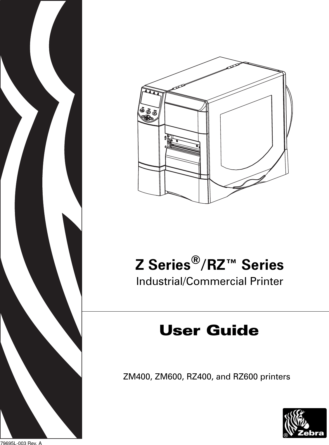Zebra Rz400 Users Manual Z Series / RZ User Guide