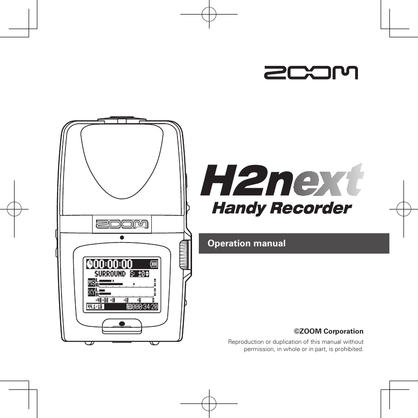 Zoom H2N Users Manual