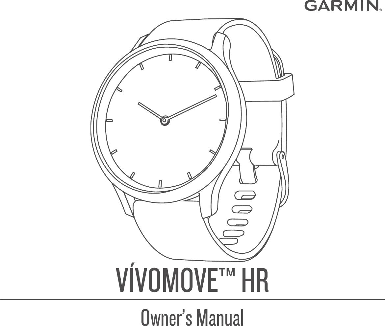 Garmin Vivomove HR Owner's Manual OM EN