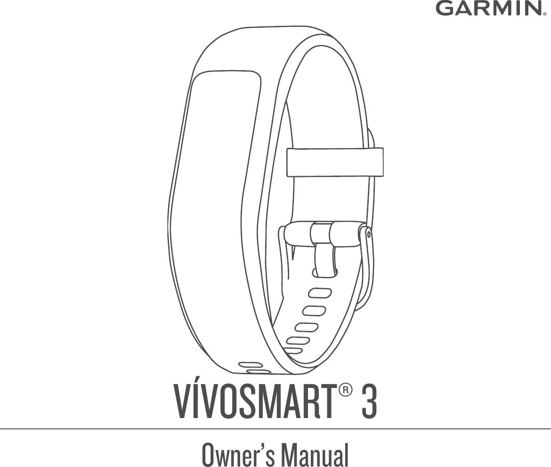 Garmin Vivosmart 3 Owner's Manual Vivosmart3 OM EN