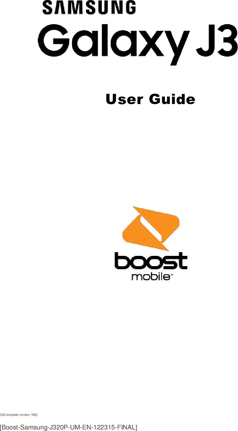 Samsung Galaxy J3 (2016) J320 User Manual 6 (Boost Mobile