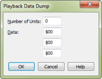 Playback Data Dump dialog box