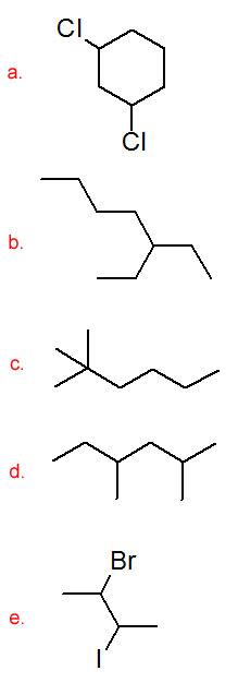 Organic Nomenclature I