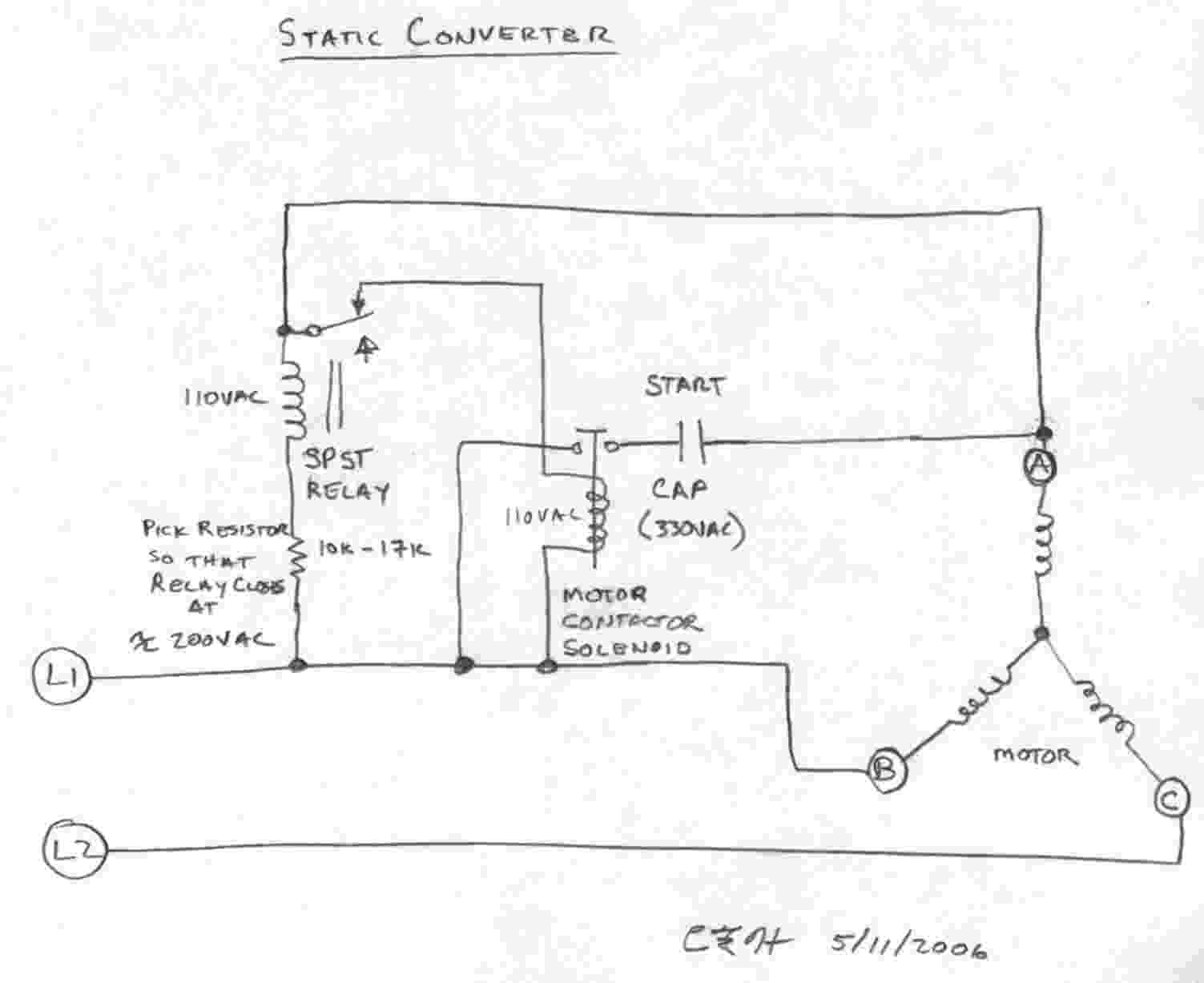 hight resolution of static converter schematic