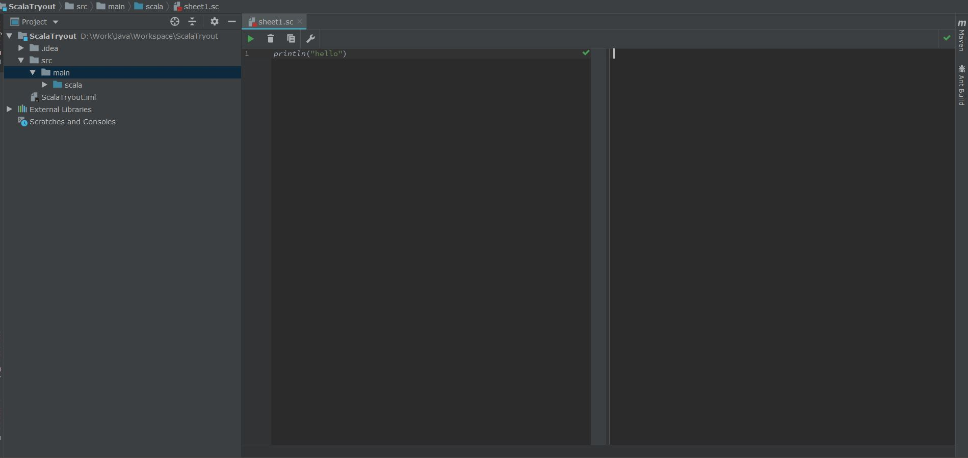 Scala Worksheet Does Not Work With Intellij