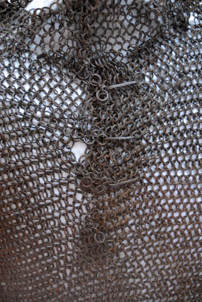 Two pieces of Medieval Chain Mail and swords in the Jordan