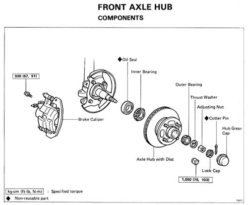 MA-61 MS65 Front Hub Upgrade