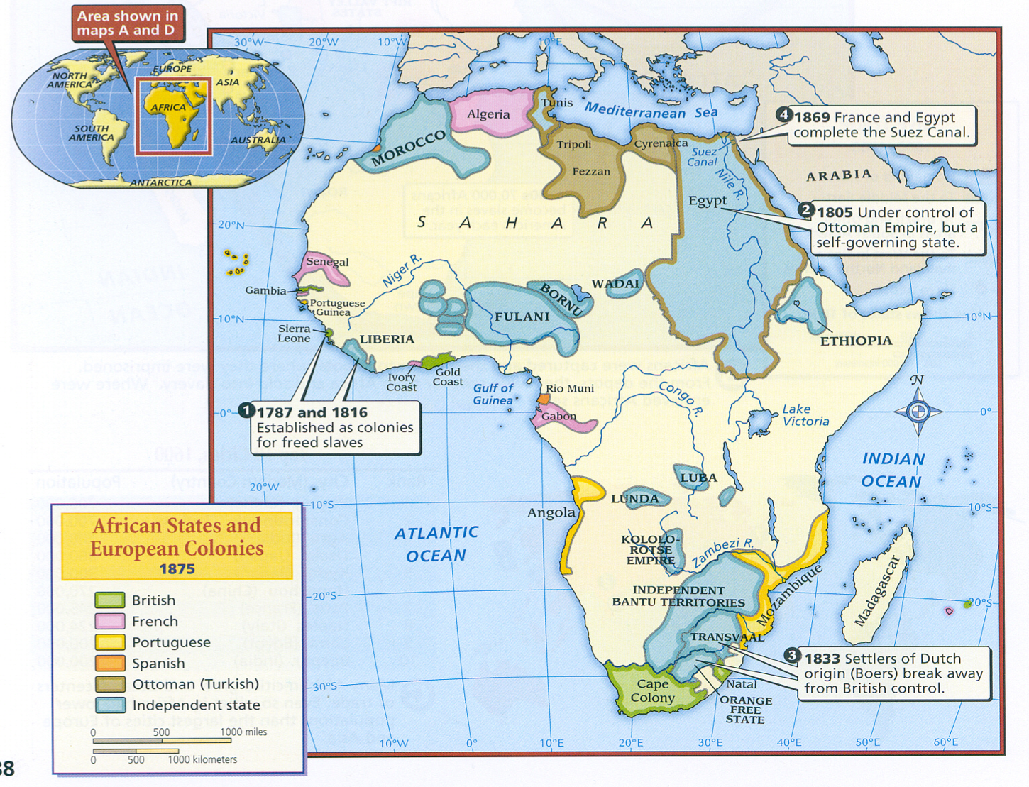 1750 Map Trade Routes