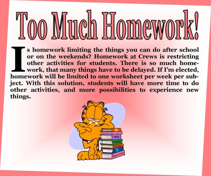 Edit Essay  Too Much Homework Debate Org Healthline Comparison Essay Between Two  Short Stories Sample Journal Article Writing An Essay In Mla Format also Essay On Advice Persuasive Essay On Why Students Should Have Less Homework  Professional Essay Format