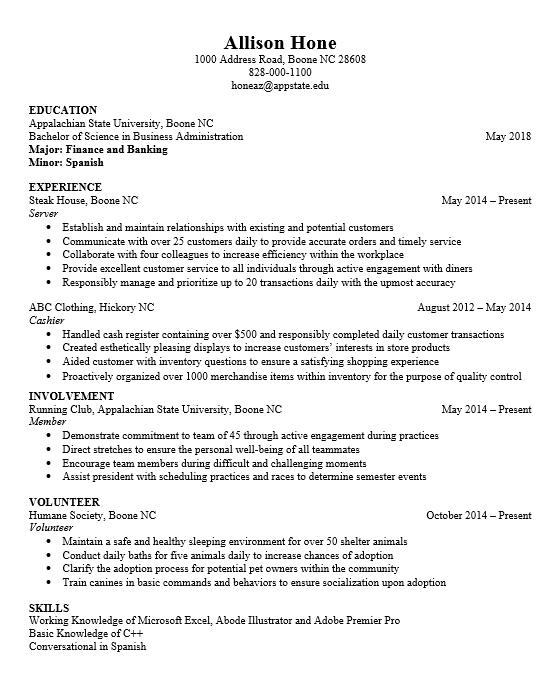 resume align dates