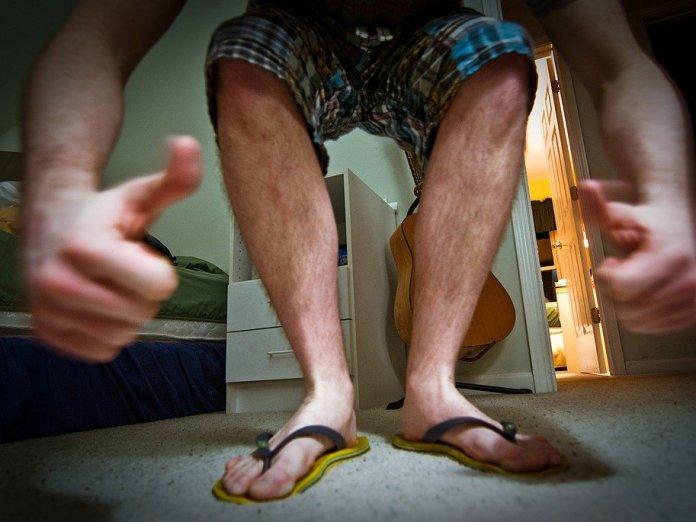 Imagini pentru plastic flip flops man