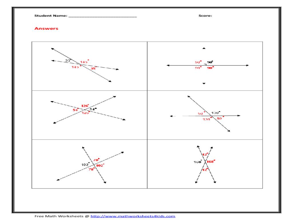 Cpm Homework Help Geometry Vertical Angles Real World