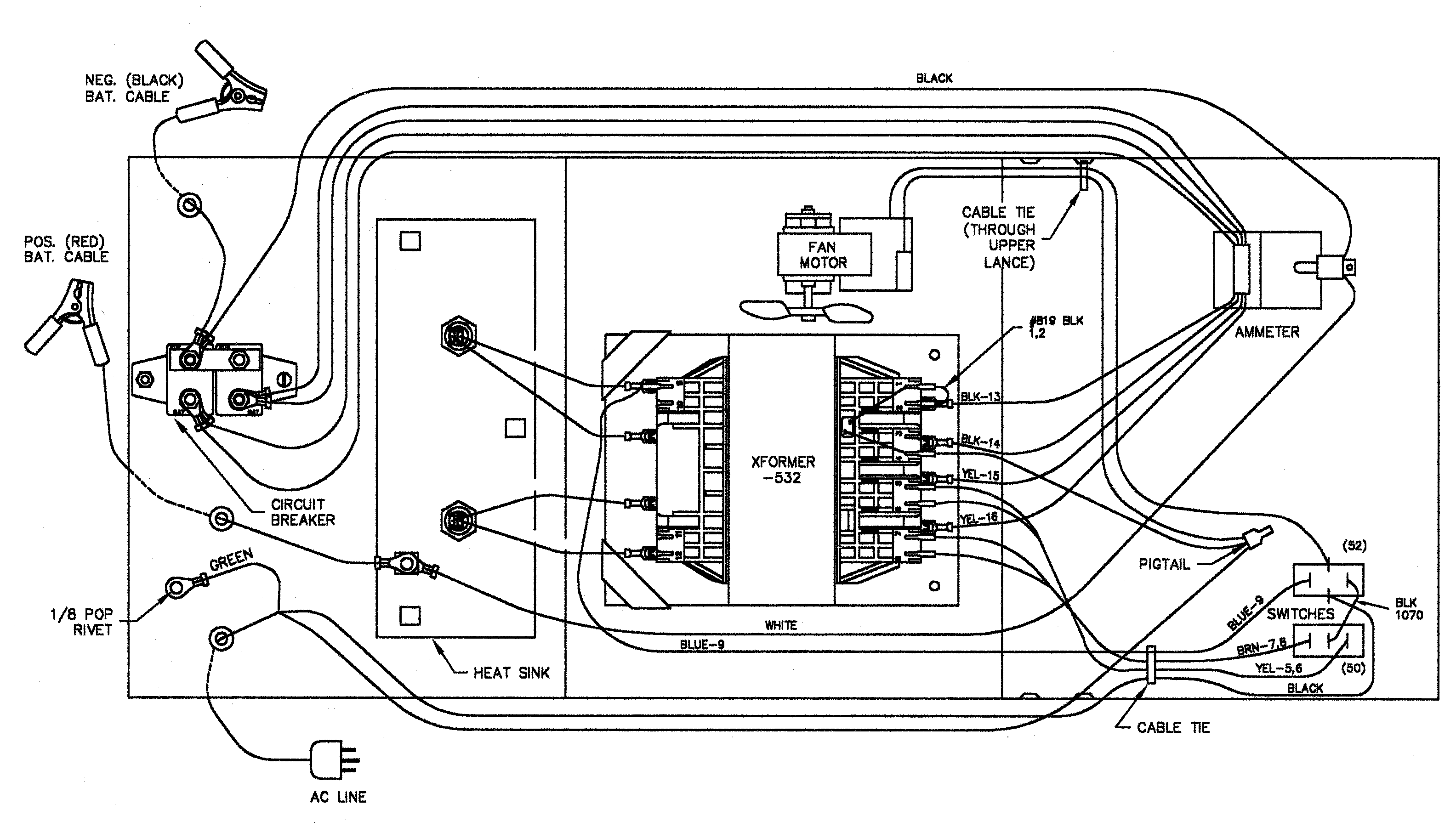battery charger wire diagram