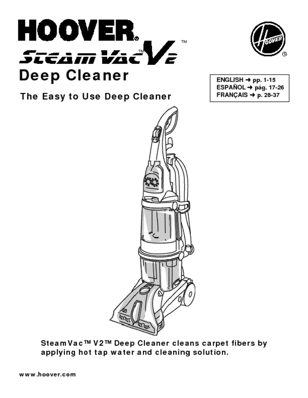 Hoover Steamvac Spinscrub Carpet Cleaner Manual