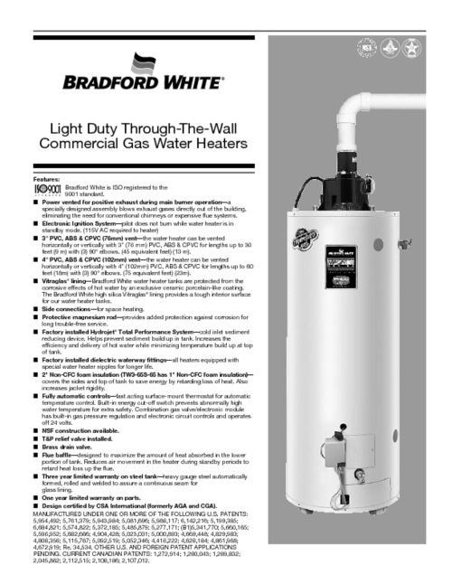 small resolution of gas water heaters manuals