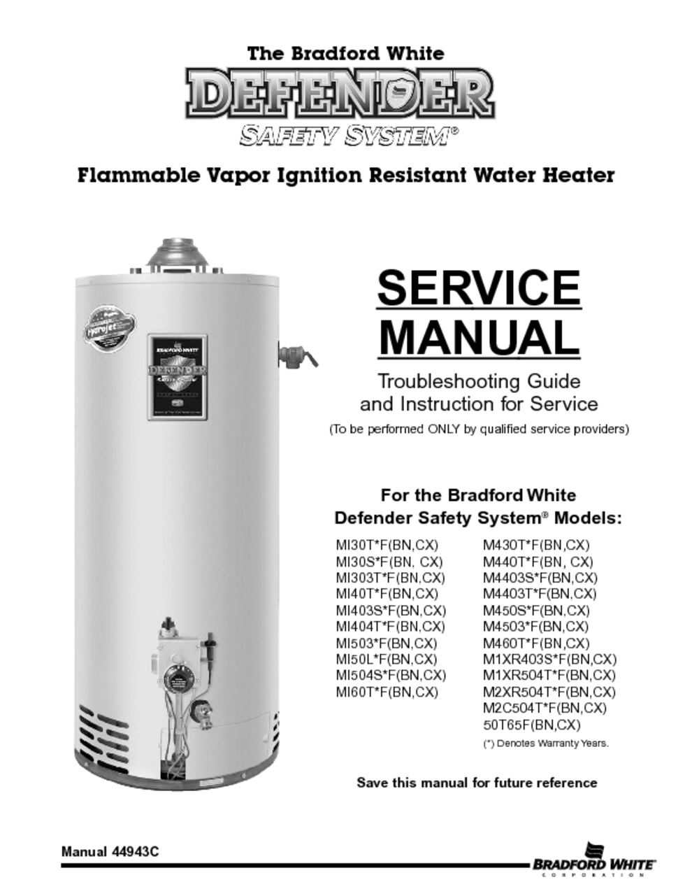 hight resolution of m1xr504t manuals m1xr504t manuals the bradford white flammable vapor ignition resistant water heater service manual