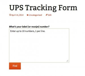 The USPS Tracking Form