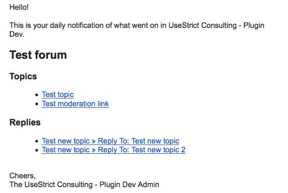 Sample Digest Email