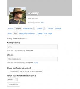 BuddyPress Profile Editor