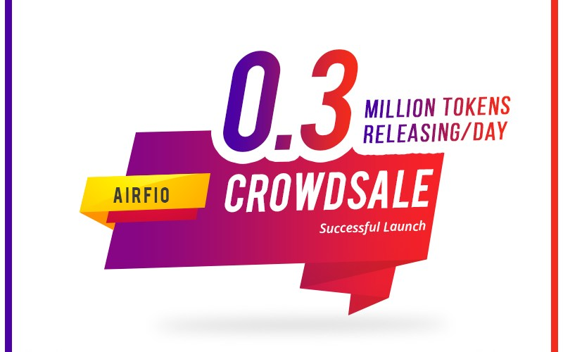 Airfio ICO successful launch - Airfio Crowdsale successful launch with interesting crypto products built with AI