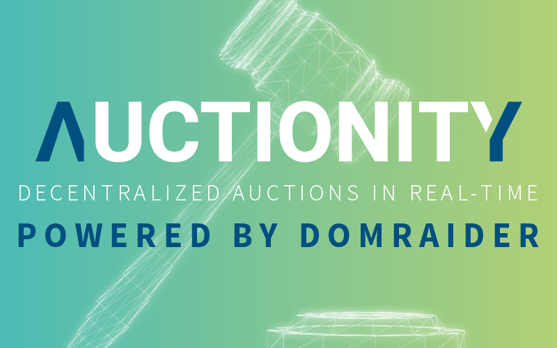 Dom Raider cover - DomRaider Group Unveils the First Version of their Blockchain Based Auction Solution under the New Brand Name Auctionity