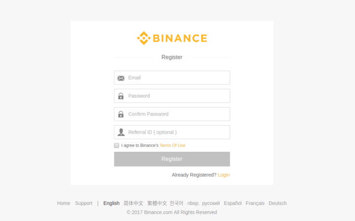 binance register - Guide: How To Buy Tron (TRX) From Binance