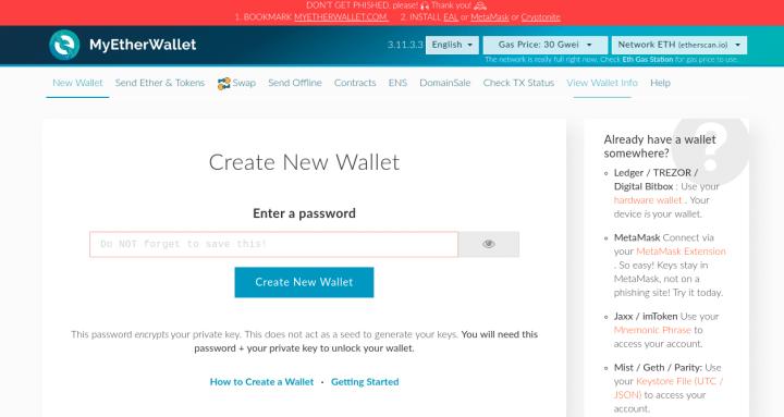 myetherwallet home 1024x544 - Guide: How To Buy Gifto (GTO) On Binance Exchange