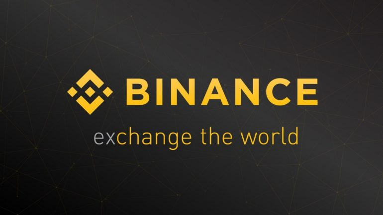 Binance logo and motto