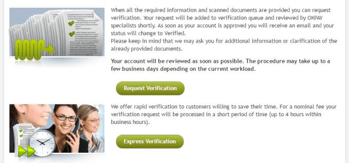 request verification