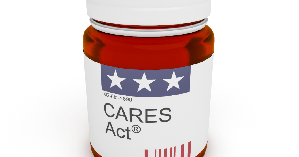 cares act prescription bottle