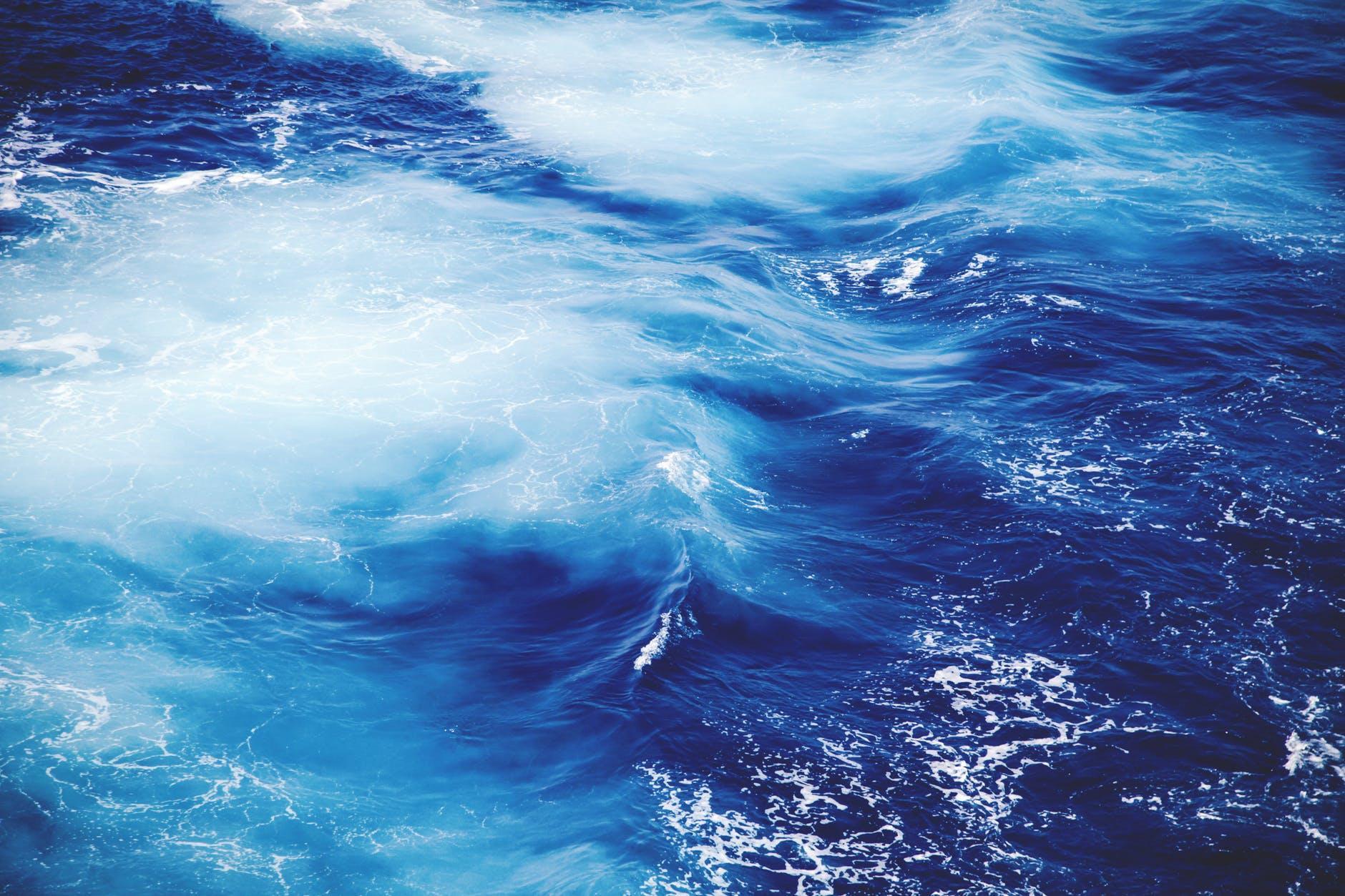 blue ocean sea water