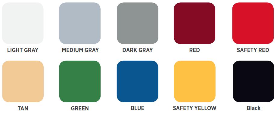 Cover-Clad Epoxy Colors
