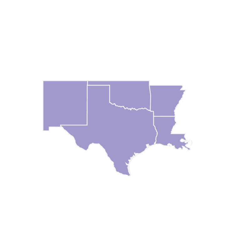 US Framing Map Regions South