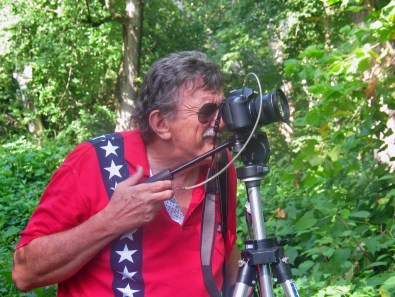 A photographer at Ohio River Islands National Wildlife Refuge in West Virginia.