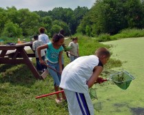 Students participating in an environmental education program at Bombay Hook National Wildlife Refuge in Delaware.