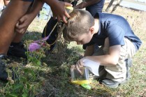 Students from Curtis Bay Elementary School participate in environmental education programs at Masonville Cove near Baltimore Harbor, which is the first urban wildlife refuge partnership under the Service's urban refuge initiative.
