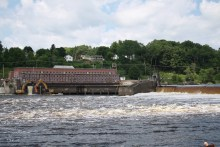Veazie Dam on the Penobscot River was demolished last year to allow for fish passage, including Atlantic salmon, American shad and shortnose sturgeon. (via Meagan Racey / USFWS)