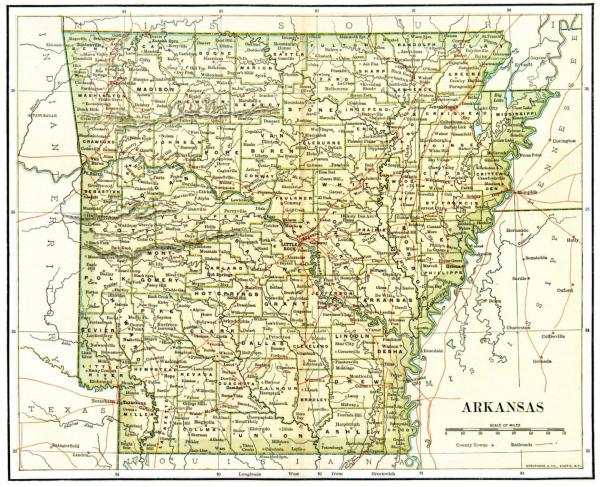 Arkansas Maps Arkansas Digital Map Library Table of