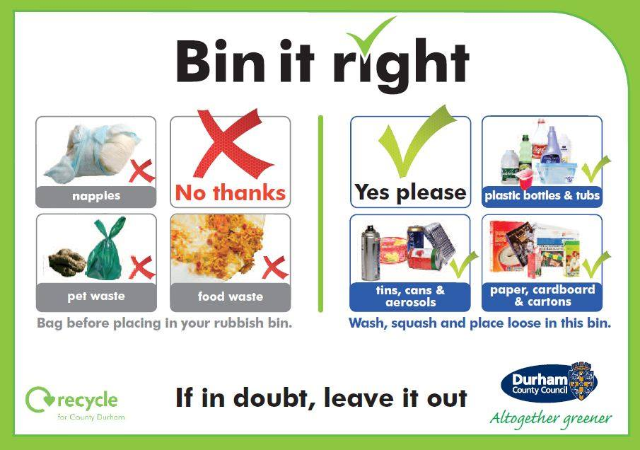 Bin it Right - Recycling and General Waste - Durham County Council (1/6)