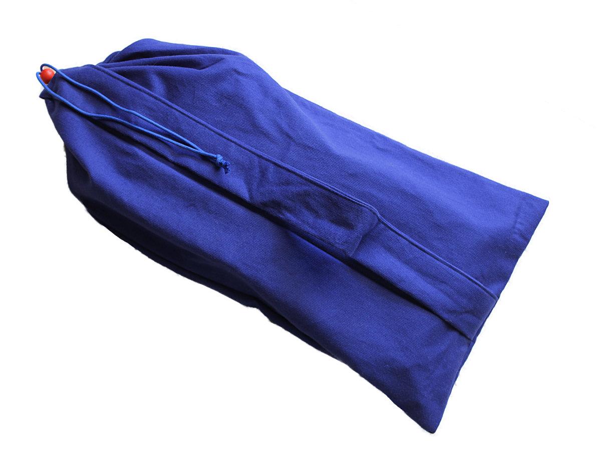 Buidel voor meditatiebankje – blauw