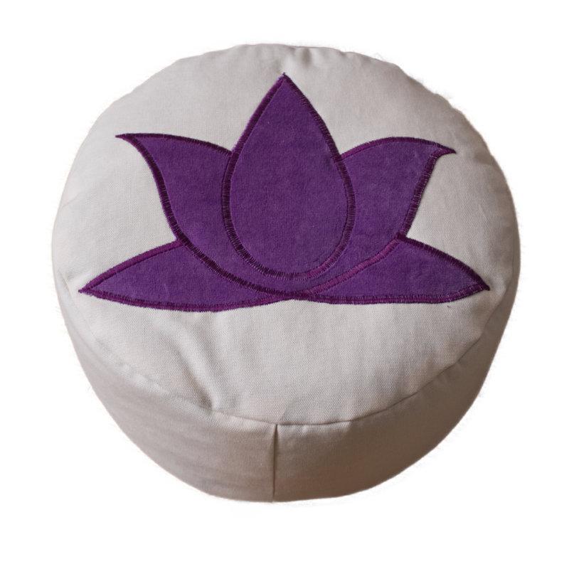 Lotus – paars op crèmewit