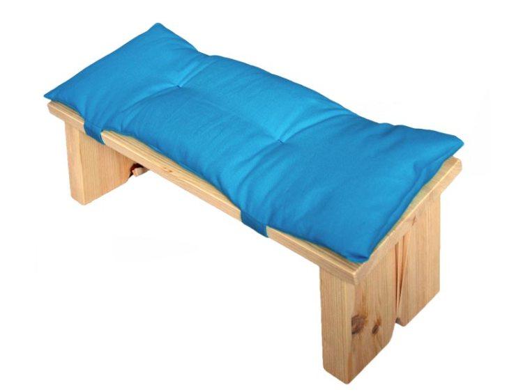 Meditatiebankje met kussentje, helderblauw