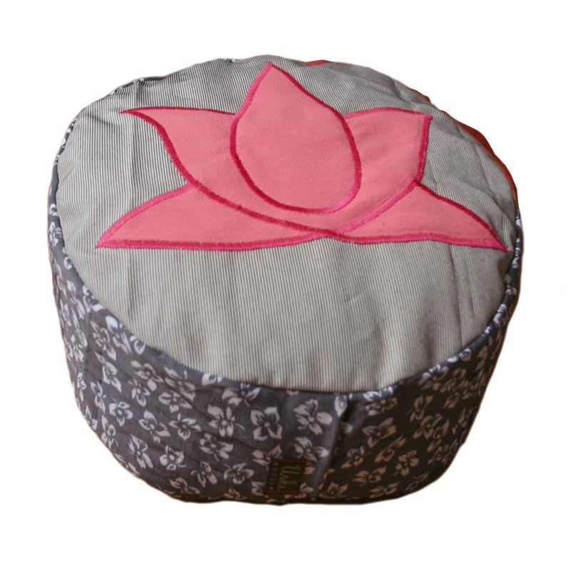 Roze lotus, gebloemde zijkant
