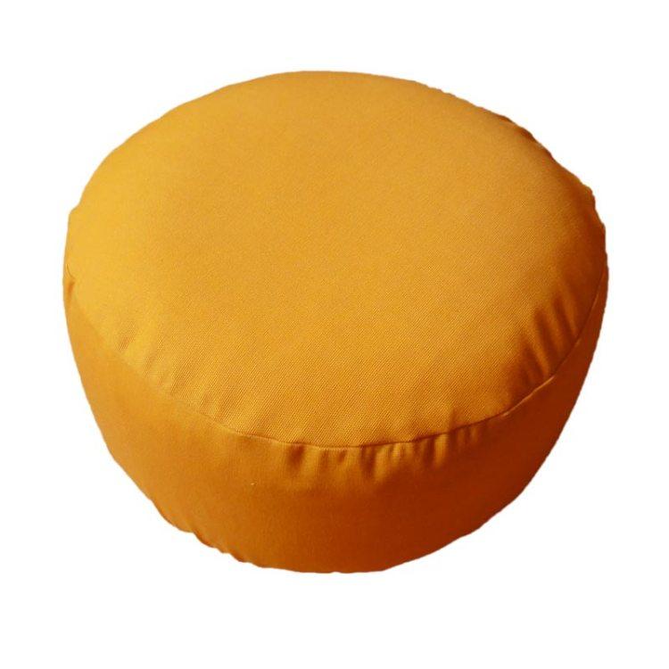 Rond meditatiekussen, oranjegeel