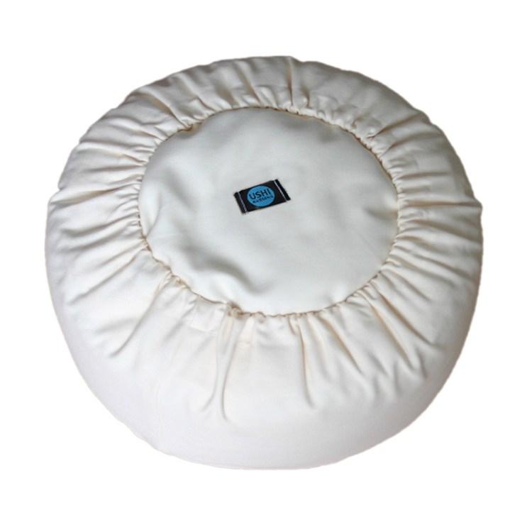 Onderkant van een kussen met afneembare hoes