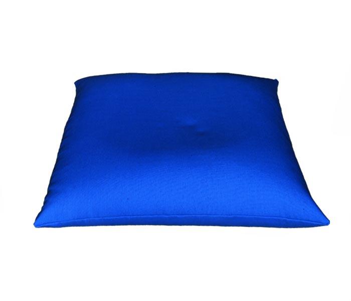 Rechthoekig meditatiekussen, kobaltblauw