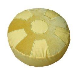 Meditatiekussen met wiel met middencirkel, zandgeel op lichtgeel