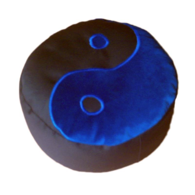 Yin Yang – Blauw op zwart